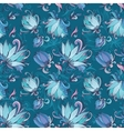 Blue Lotus Pattern vector image