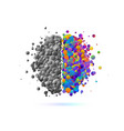brainstorm power thinking abstract brain logo vector image