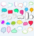 bubbles blank speech bubbling messages for vector image vector image