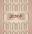 Calendar 2015 on aged paper scroll vector image vector image