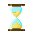 cartoon hourglass isolated on white background vector image vector image