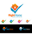check home real estate design simple realty with vector image vector image