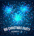 christmas party invitation with color lights vector image