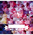 Colorful abstract triangular bright pattern vector image