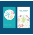 colorful doodle snowflakes vertical round frame vector image vector image