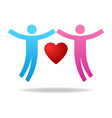 couple icon give love charity concept pair vector image vector image