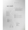 Creative simple curriculum vitae template on grey vector image vector image