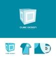 Cube 3d logo icon design vector image vector image