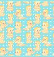 cute cartoon pattern vector image vector image