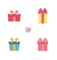 Cute present objects vector image vector image