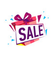 discount gift sales isolated sticker vector image vector image