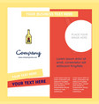 drink bottle company brochure template busienss vector image vector image