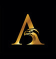 eagle initial letter a monogram vector image vector image