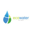 eco water logo vector image