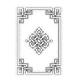 engraving of endless knot symbol on white vector image vector image
