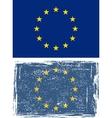 European Union grunge flag vector image vector image