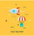 fast delivery flat concept vector image