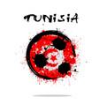 flag of tunisia as an abstract soccer ball vector image vector image