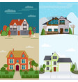 flat rent houses concept vector image vector image