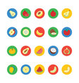 Fruit and Vegetable Icons 3 vector image