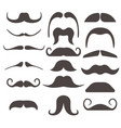 funny fake moustaches for mouth mask vector image