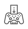 game console electronic devices line icon vector image vector image