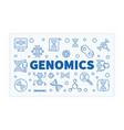 genomics horizontal outline science banner vector image vector image
