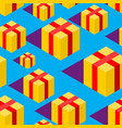 gift isometric style pattern festive ornament box vector image vector image