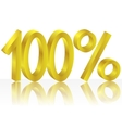 Gold one hundred percent vector image