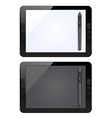 graphic tablet and pen vector image vector image