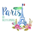 greeting card from paris vector image