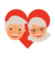 happy grandparents portrait old lovely couple in vector image vector image
