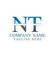 initial monogram letter nt logo design template vector image vector image