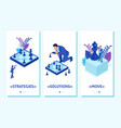 isometric set concept big business chess game vector image
