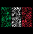 Italy flag pattern of trident fork icons vector image