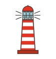 lighthouse tower guide icon vector image