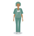 medical nurse isolated on white background image vector image vector image