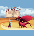 medieval king and queen on fairytale vector image vector image