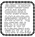Metal Chain Alphabet Isolated on White vector image vector image
