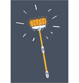mop icon cleaning icon vector image vector image