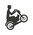 motorcycle extreme isolated icon design vector image vector image