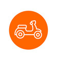 motorcycle or scooter bike icon simple motorbike vector image vector image