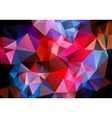 Multicolored background polygon vector image vector image