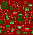 new year red tile pattern merry christmas flat vector image vector image