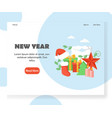new year website landing page design vector image