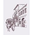 original digital drawing of Rome street Italy vector image vector image