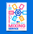 paint mixing service advertising banner vector image vector image