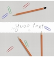 Pencil tools vector image