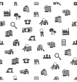 real estate seamless pattern vector image