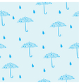 seamless blue pattern with umbrella vector image